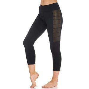 Pants - Shine/Mesh Side Panel Flex Leggings